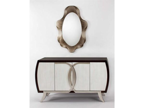 Silver Chocolate Console Cabinet