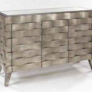 Silver Console Cabinet