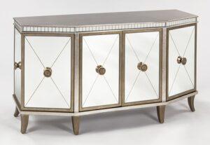 Silver Goldleaf Console Cabinet
