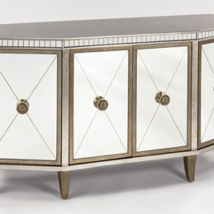 Silver Goldleaf Console Cabinet