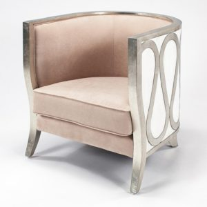 Silver and Beige Chair
