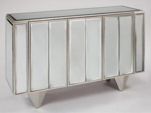 Silverleaf mirrored cabinet