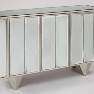 Silverleaf mirrored cabinet