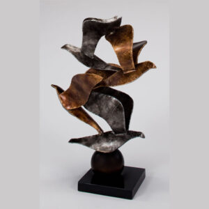 Flock Metal Bird Sculpture