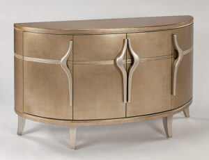 Modern Champagne Console Cabinet