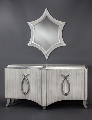 Eggshell White Console Cabinet