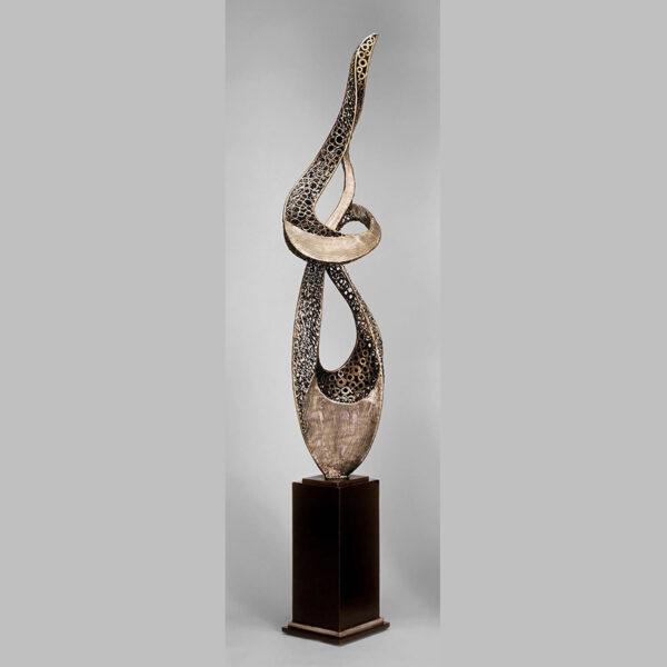 Modern Flame Floor Sculpture