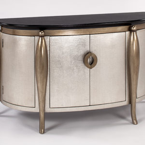Old Gold Silver Console Cabinet
