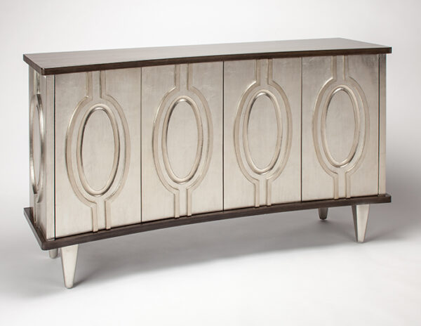 Old Silver Console Cabinet