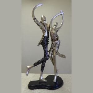 Salseros Dance Couple Sculpture