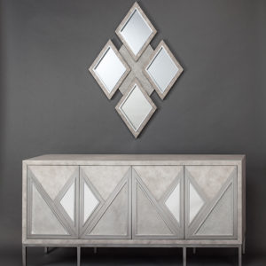 Sandy Silver Console Cabinet