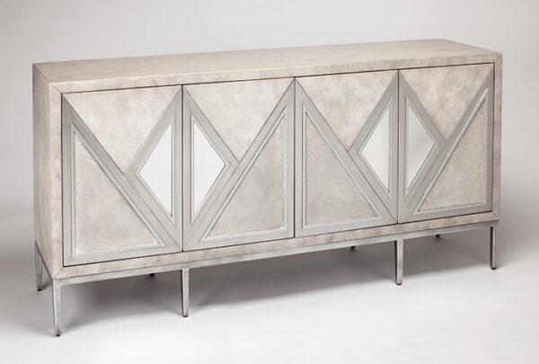 Sandy Silver Console Cabinet