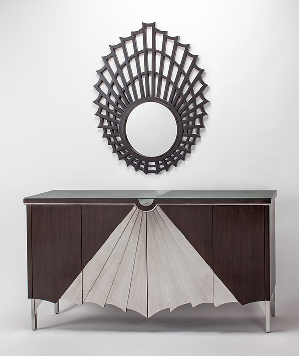 Shadow Silver Console Cabinet