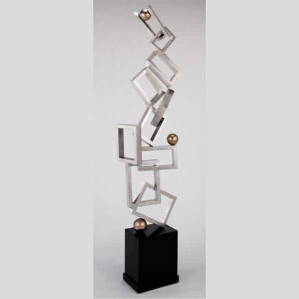 Silver Connections Floor Sculpture