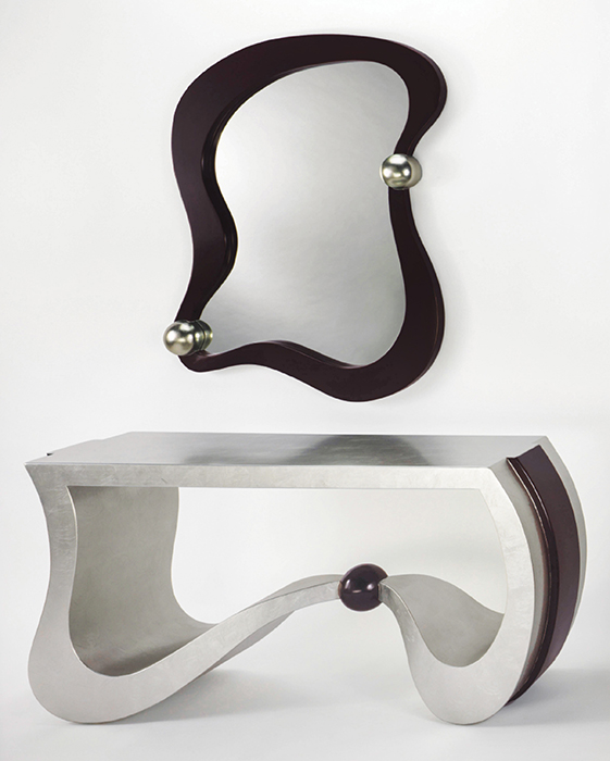 Modern Silverleaf Console Table