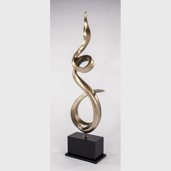 Twisted Flame Floor Sculpture