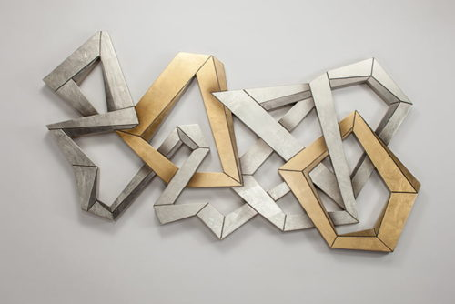 Artmax 32x61 Silver and Gold Wall Sculpture