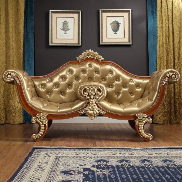 1 Glamorous Golden Tan Bench