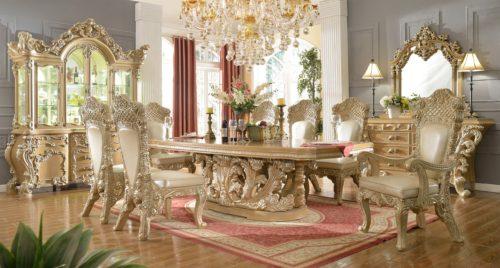 Glamorous Antique Silver 9pc Dining Set