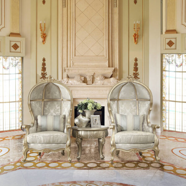 Glamorous Belle Silver 2 King Chairs