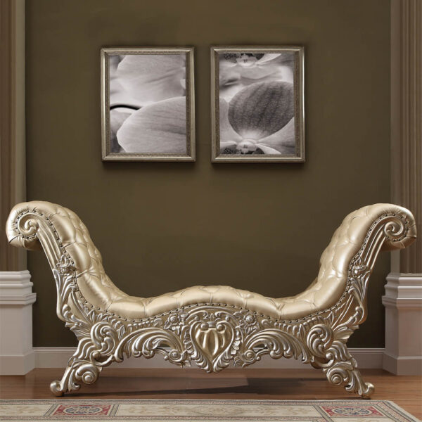 Glamorous Belle Silver Bench
