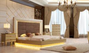 Glamorous Belle Sivler 5pc Bedroom Set