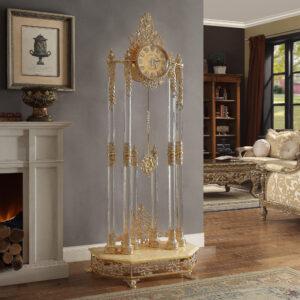 Glamorous Brass Gold Clock