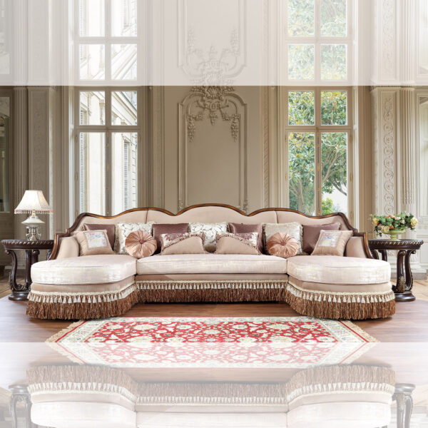 Glamorous Brown Cherry 3pc Sofa Set