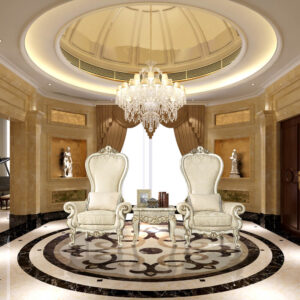 Glamorous Cove White 2 King Chairs