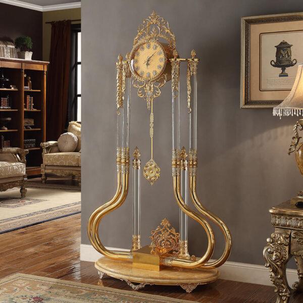 Glamorous Gold Brass Clock