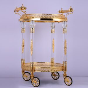 Glamorous Golden Brass Bar Cart