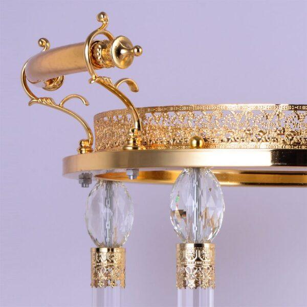 Glamorous Golden Brass Bar Cart