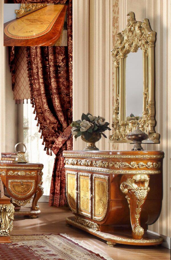 Glamorous Golden Tan 5pc Bedroom Set