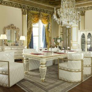 Glamorous Ivory 7pc Dining Set