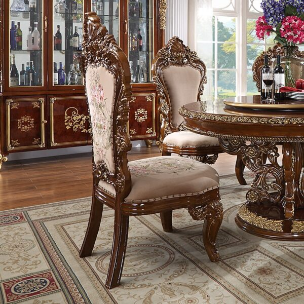 Glamorous Metallic Gold 9pc Dining Set