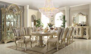 Glamorous Newberry 9pc Dining Set