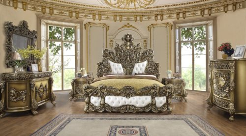 Glamorous Perfect Brown 5pc Bedroom Set