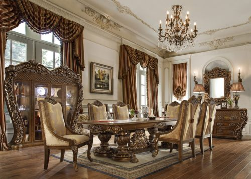 Glamorous Perfect Brown 7pc Dining Set