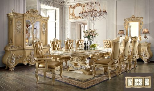 Glamorous Pickle Frost 9pc Dining Set