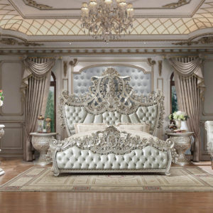 Glamorous Pure Silver 5pc Bedroom Set