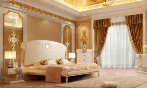 Glamorous White Cream 5pc Bedroom Set