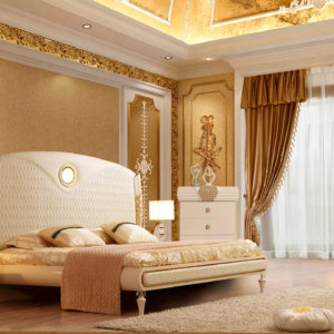 Glamorous White Cream 5pc Bedroom Set