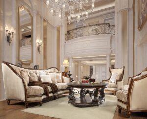 Luxurious Dark Oak 3pc Sofa Set