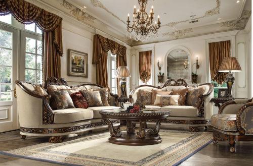 Luxurious Dark Red 3pc Sofa Set