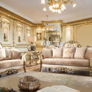 Luxurious Light Green 3pc Sofa Set
