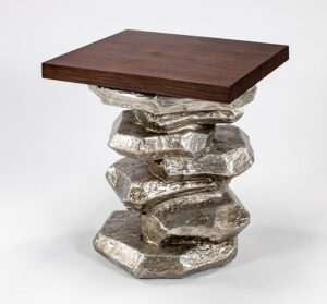 Artmax 26in Silver End Table