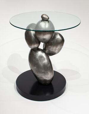 Artmax 27in Silver Coffee Table