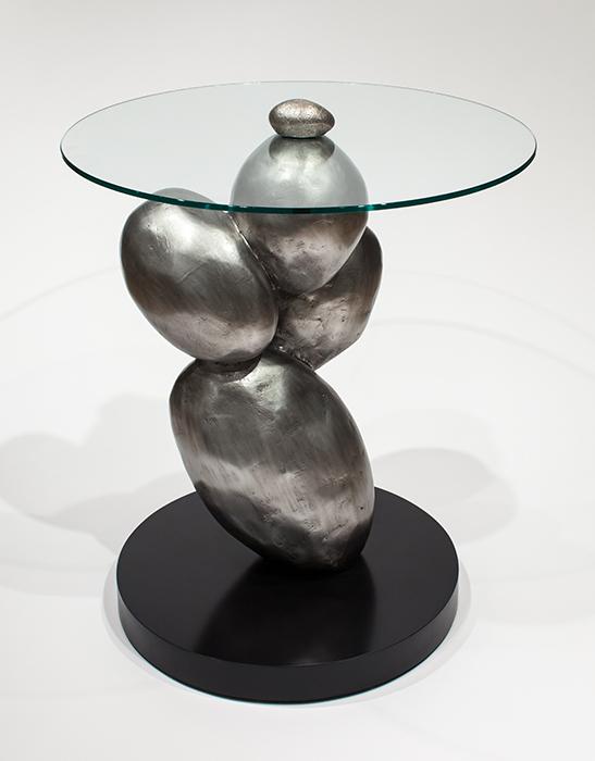 Artmax 27in Silver Coffee Table