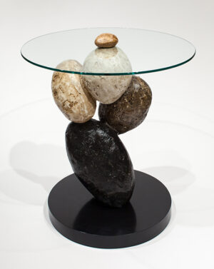 Artmax 27in Stone End Table