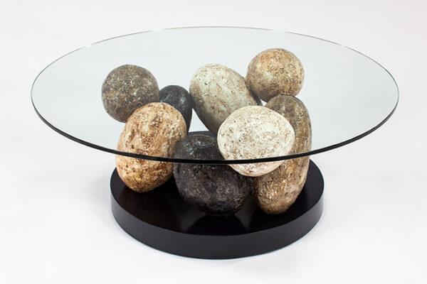 Artmax 44in Stone Coffee Table